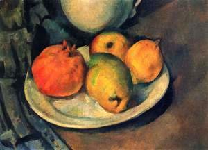 Paul Cezanne - Still Life with Pomegranate and Pears 2