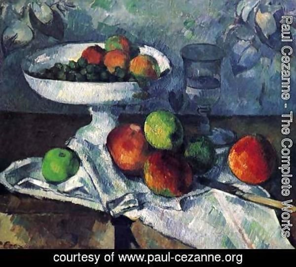 Paul Cezanne - Still Life with Fruit Bowl