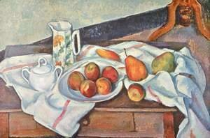 Paul Cezanne - Still life with sugar bowl