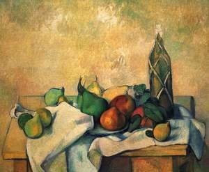 Paul Cezanne - Still life, bottle of rum