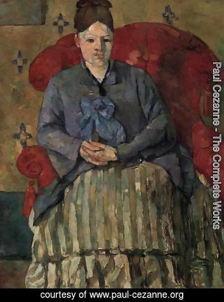 Paul Cezanne - Madame Cezanne in a Red Armchair