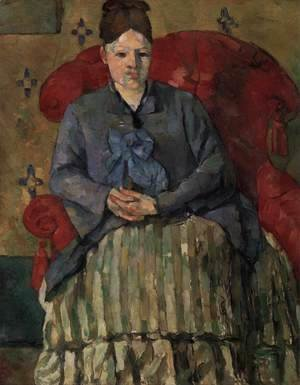 Madame Cezanne in a Red Armchair