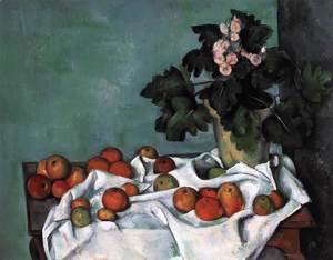 Still-Life with Apples and a Pot of Primroses