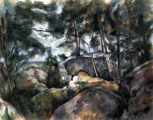 Paul Cezanne - Rocks in the Forest