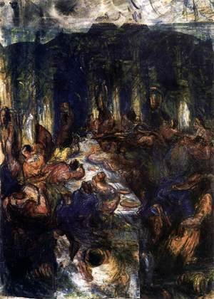 Paul Cezanne - The Orgy, or The Banquet