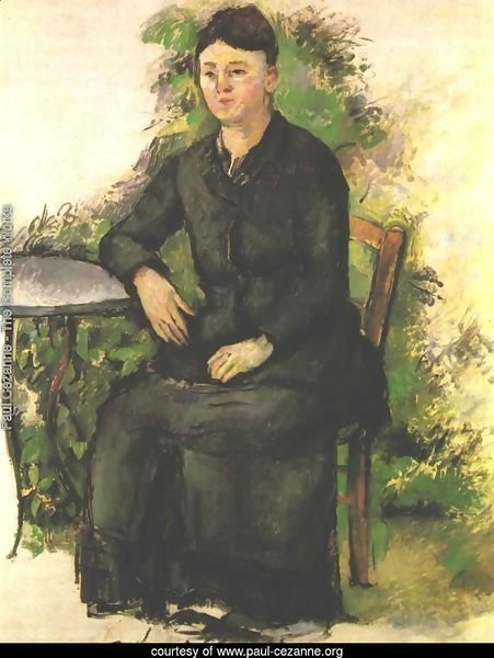 Madame Cezanne in the garden