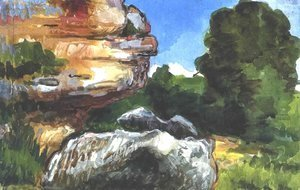 Paul Cezanne - Rocks