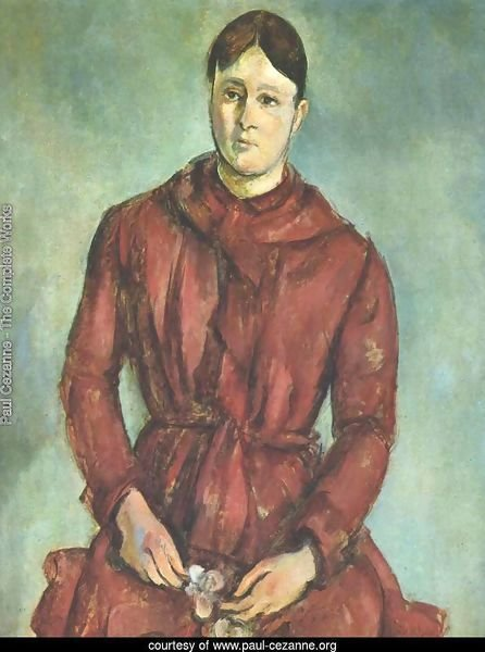 Portrait of Madame Cezanne in a Red Dress