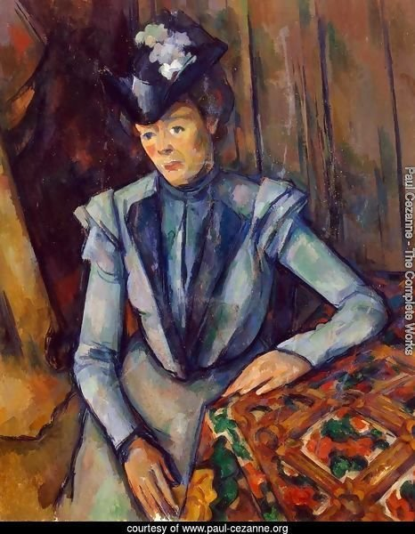 Woman in Blue. Madame Cezanne
