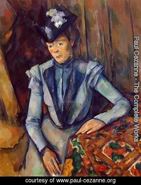 Paul Cezanne - Woman in Blue. Madame Cezanne