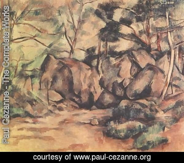 Paul Cezanne - Woodland with Boulders