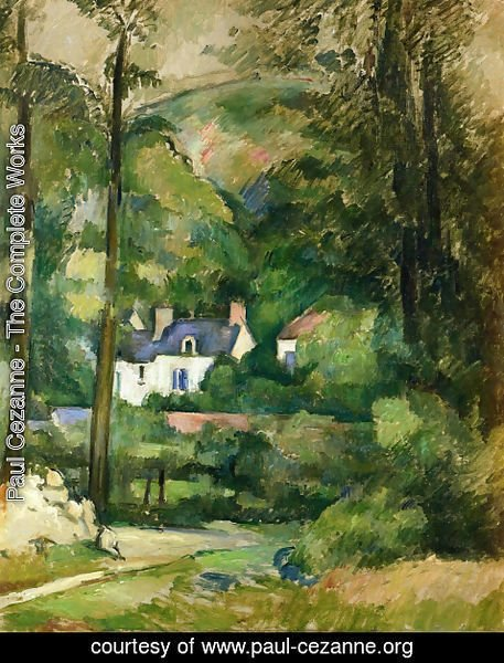 Paul Cezanne - Houses in the Greenery