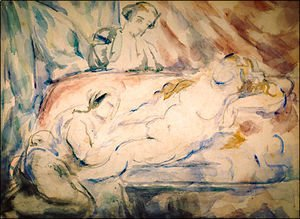 Paul Cezanne - Nude Female with Attendants