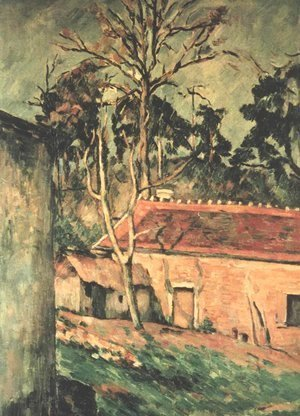 Paul Cezanne - Farmyard at Auvers