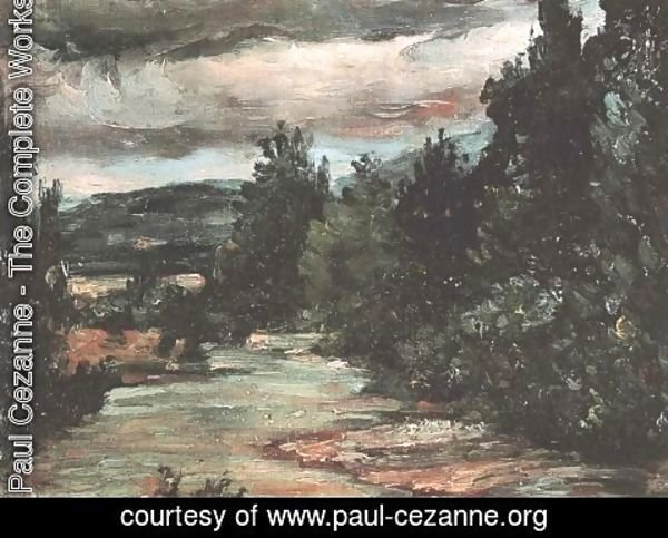 Paul Cezanne - River in the plain