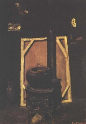 Paul Cezanne - Stove in the atelier