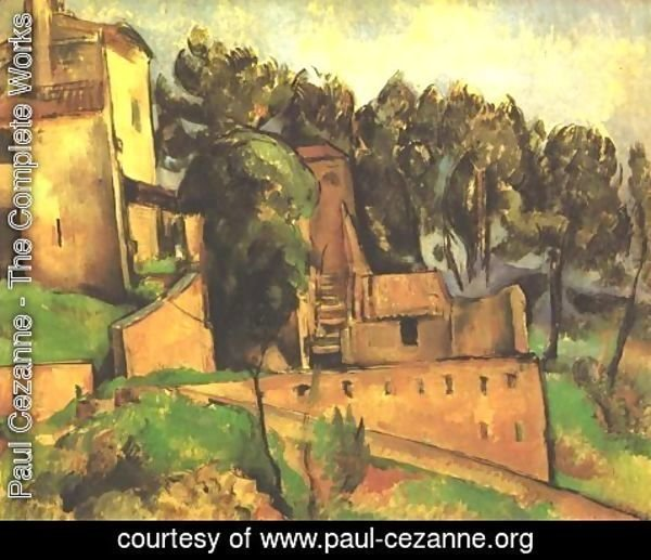 Paul Cezanne - The farm of Bellevue 2