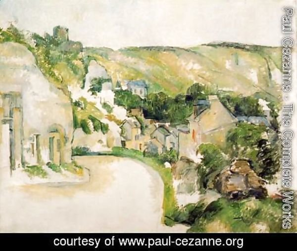Paul Cezanne - A Turn On The Road At Roche Ruyon