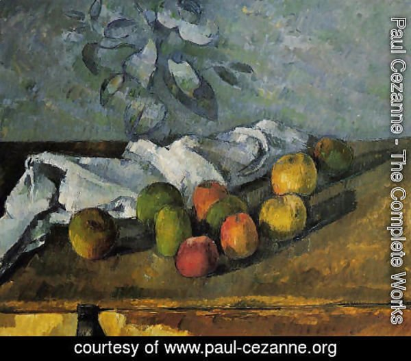 Paul Cezanne - Apples And Napkin