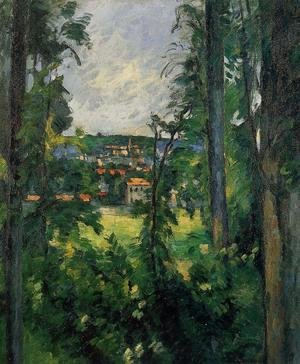 Paul Cezanne - Auvers Sur Oise  View From Nearby