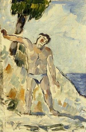Paul Cezanne - Bather With Arms Spread