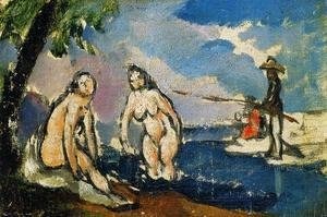 Paul Cezanne - Bathers And Fisherman With A Line