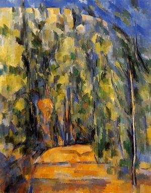 Paul Cezanne - Bend In The Forest Road