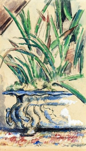 Paul Cezanne - Blue Flowerpot