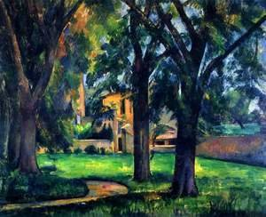 Paul Cezanne - Chestnut Tree And Farm At Jas De Bouffan