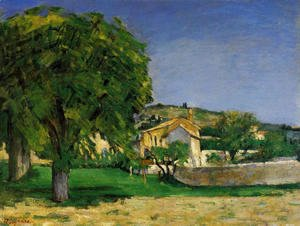 Paul Cezanne - Chestnut Trees And Farmstead Of Jas De Bouffin
