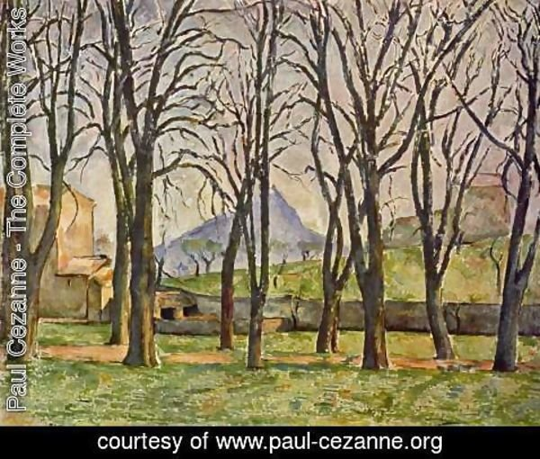 Paul Cezanne - Chestnut Trees At The Jas De Bouffan
