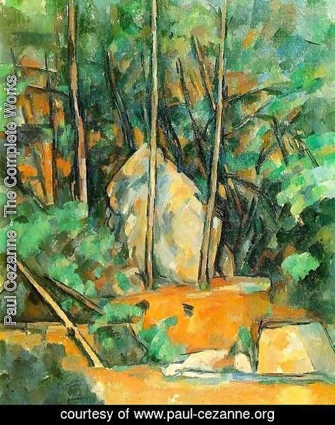 Paul Cezanne - Cistern In The Park At Chateau Noir