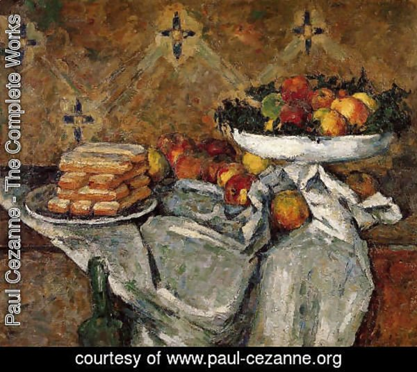 Paul Cezanne - Compotier And Plate Of Biscuits