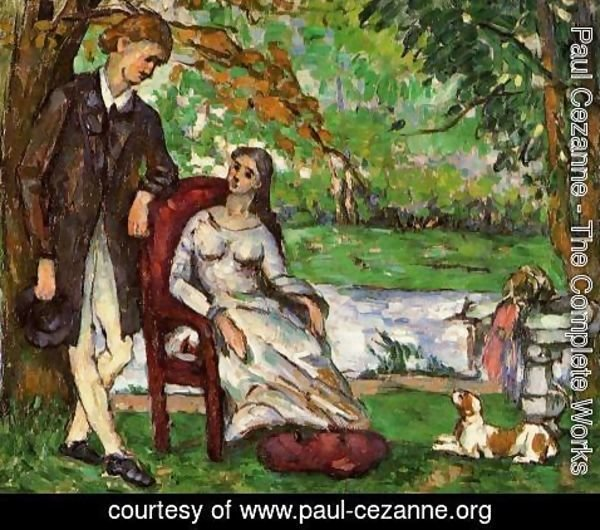 Paul Cezanne - Couple In A Garden Aka The Conversation