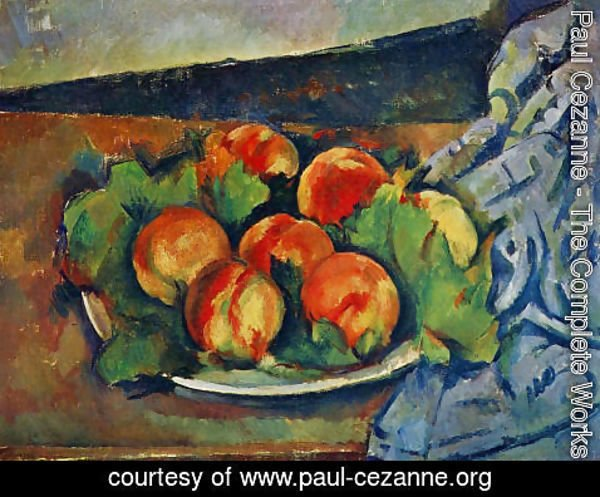 Paul Cezanne - Dish Of Peaches