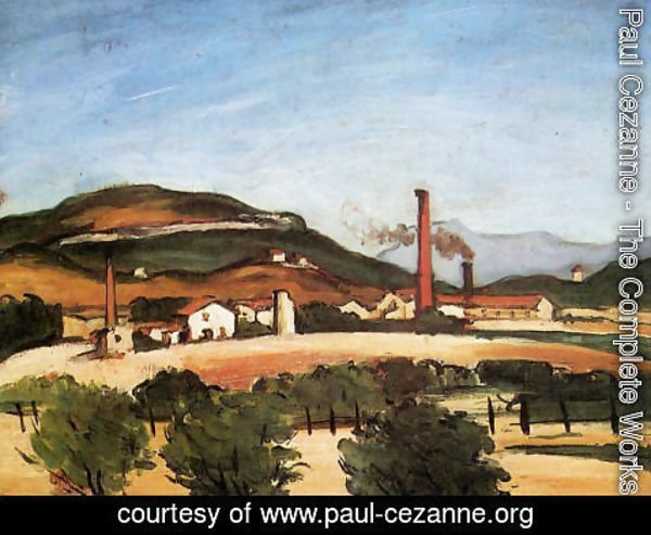 Paul Cezanne - Factories Near Mont De Cengle