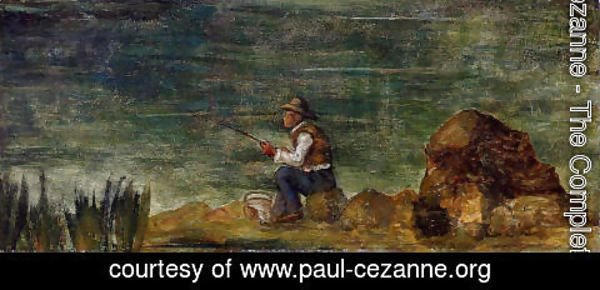 Paul Cezanne - Fisherman On The Rocks