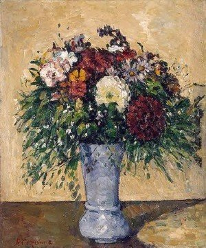 Paul Cezanne - Flowers In A Blue Vase