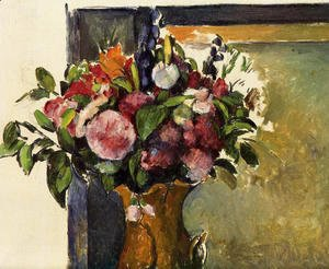 Paul Cezanne - Flowers In A Vase2