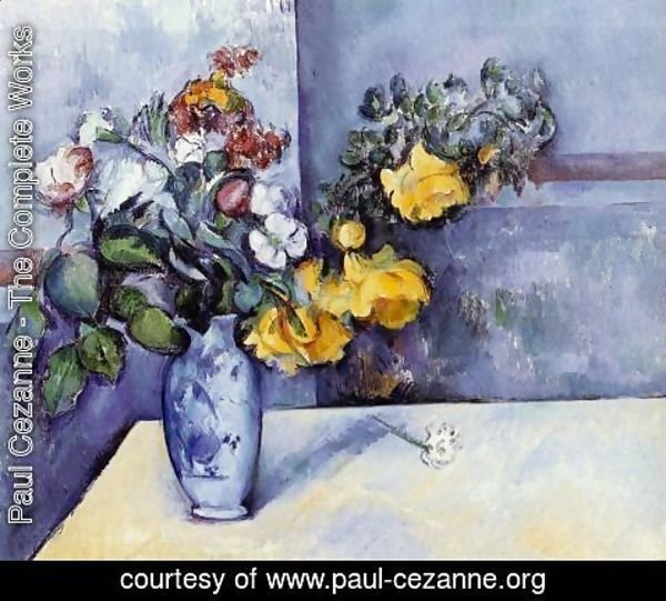 Paul Cezanne - Flowers In A Vase3