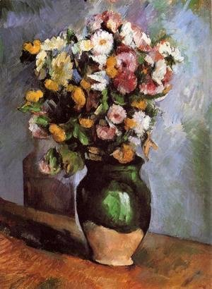 Paul Cezanne - Flowers In An Olive Jar