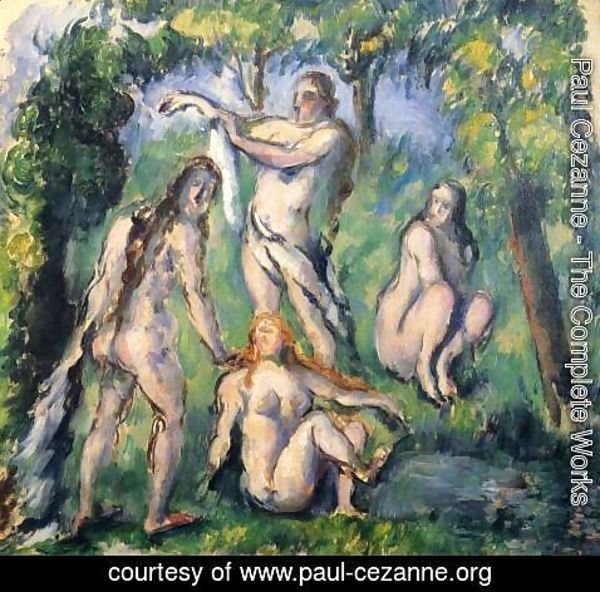 Paul Cezanne - Four Bathers