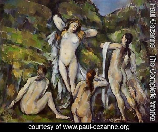 Paul Cezanne - Four Bathers2