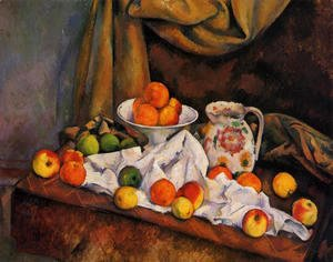 Paul Cezanne - Fruit Bowl  Pitcher And Fruit