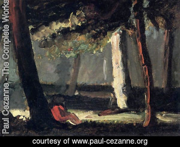 Paul Cezanne - Guillaumin By The Road