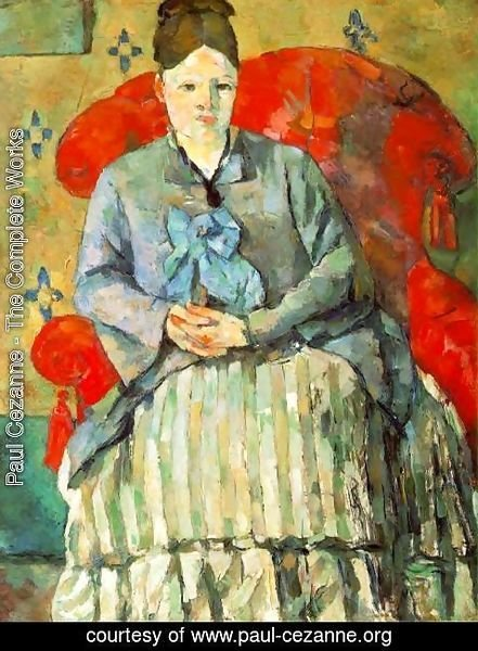 Paul Cezanne - Hortense Fiquet In A Striped Skirt