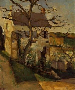 Paul Cezanne - House And Tree  The Hermitage  Pontoise