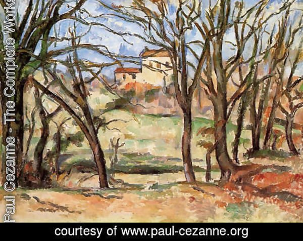 Paul Cezanne - House Behind Trees On The Road To Tholonet
