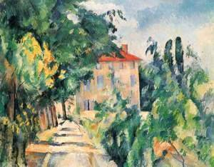 Paul Cezanne - House With Red Roof