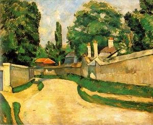 Paul Cezanne - Houses Along A Road